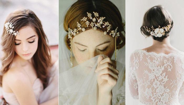 讓人一見鍾情的女神系頭飾! 25個唯美別致冬季新娘髮飾!
