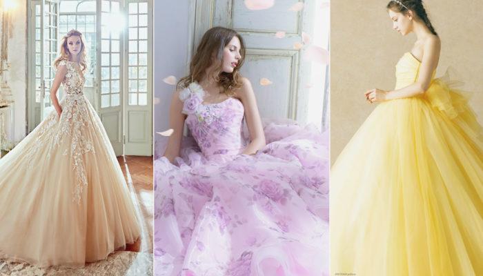 超萌仙女系色彩來襲! 30件夢幻仙境微甜彩色婚紗
