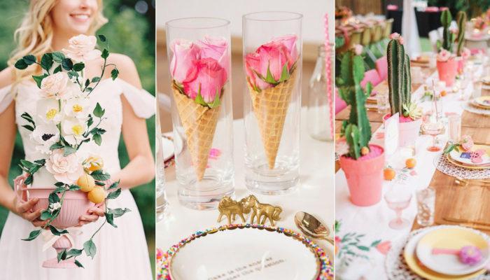 不用大量鮮花也可以打造夢幻婚禮! 33種節省開銷的創意時尚桌花!