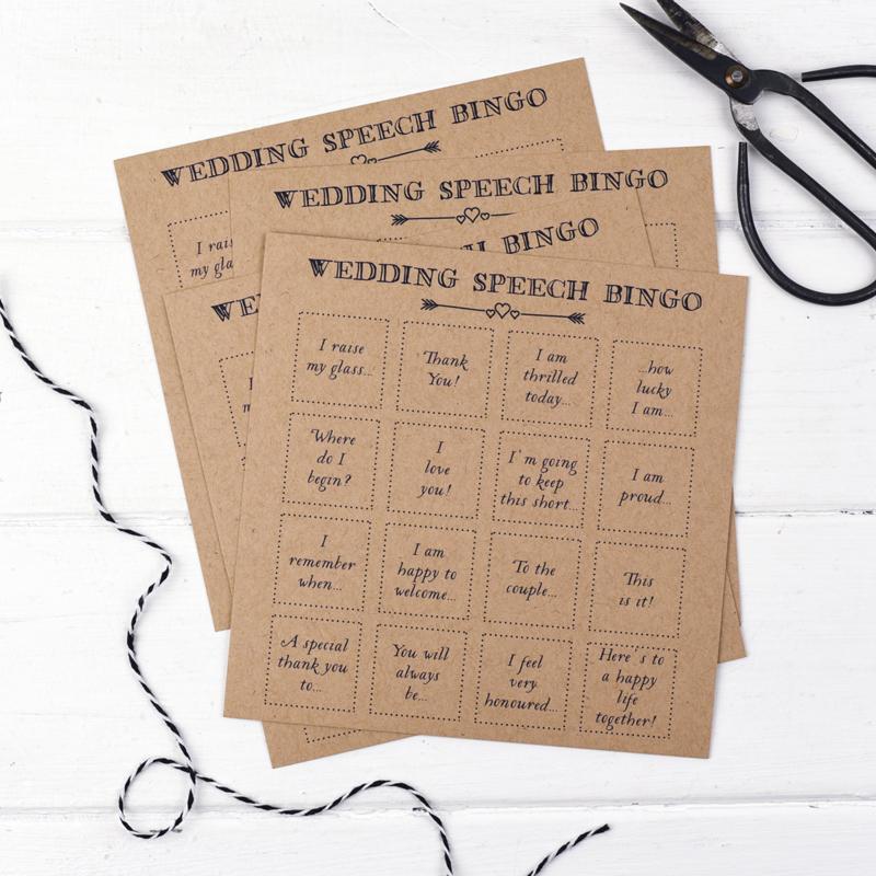 05-Pack Of 10 Wedding Bingo Game Cards