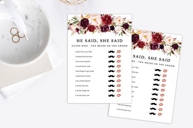 11-He Said She Said Game (Printable)