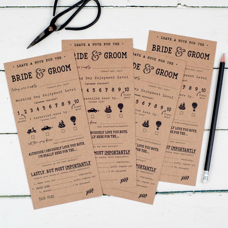 13-Pack of 10 Fun Wedding Score Cards