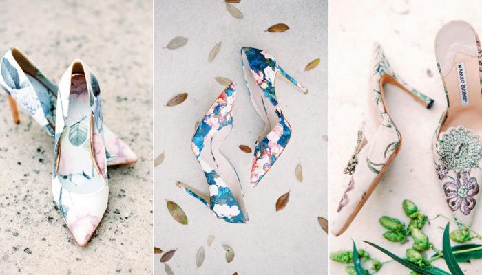 漫步在花園的浪漫風情 – 15雙花卉婚鞋繽紛來襲!