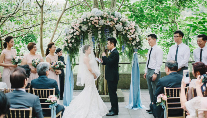 唯美優雅灰藍色系戶外婚禮 – 故宮晶華美式婚禮 (The Stage 拍攝)