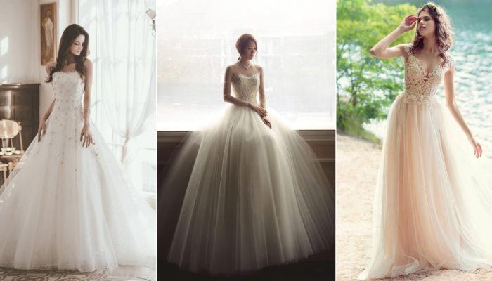 理想中的婚紗就是少不了澎澎紗裙! 26款夢幻時尚薄紗禮服!