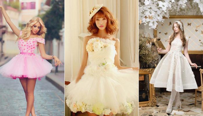 夏天就是要俏麗可愛! 30件甜美時尚短婚紗!