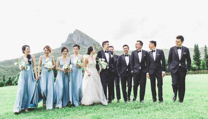 奢華的藍色優雅 – 自然綠意墾丁美式婚禮 (Allen Fu 拍攝)