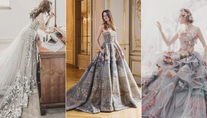 低調時尚潮流來襲! 22件令摩登新娘著迷的優雅灰色禮服!