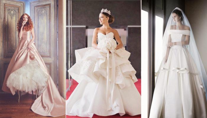 經典與時尚的完美結合! 18件散發著高貴氣勢的緞面婚紗!