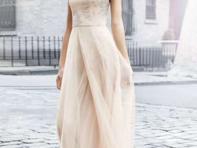 Metallic Tulle Gown