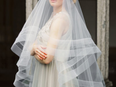Double Horsehair Ribbon Veil