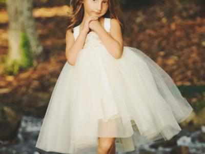 Burlap and Lace Dress