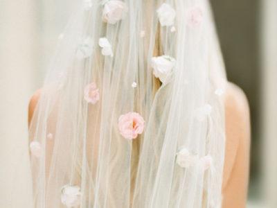 Floral Blush Veil