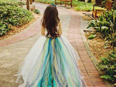 Color Train Dress