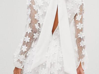 3D Floral Bow Dress