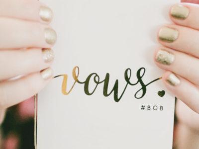 Gold Foil Vow Book