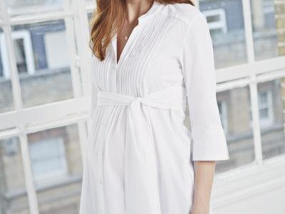 Maternity Longline Shirt Dress