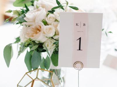 Single Swath Blush Table Numbers (10)