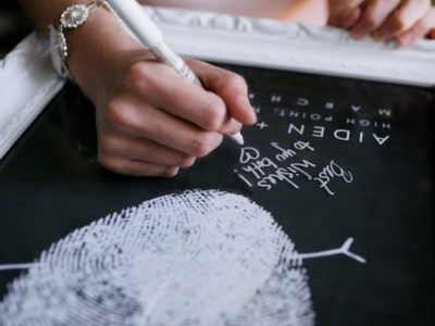 Chalkboard Fingerprint Guest Book