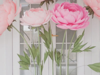 Standing Giant Paper Flowers