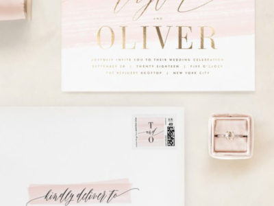 Effervescent Wedding Invitation (100)