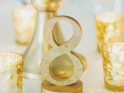Glitter Table Numbers (1-15)