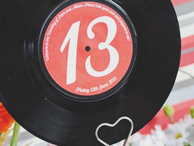 Vinyl Record Wedding Table Names (10)