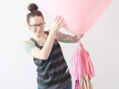 Blush Pink Heart Balloon