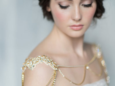 Gold Bridal Shoulder Necklace