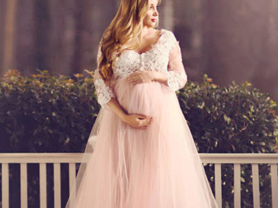 Pink Maternity Gown