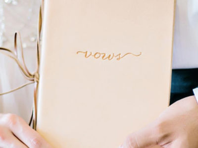 Leather Vow Book