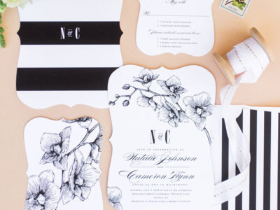 Lovely Orchids Invitation