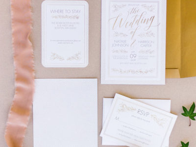Gilded Perfection Wedding Invitation