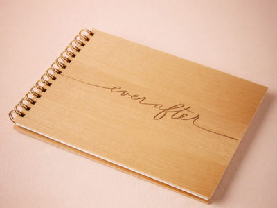 Ever After Wooden Guest Book