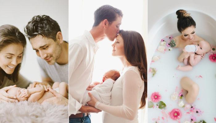 6種父母入鏡必掌握的互動姿勢! 自然暖心的新生兒家庭寫真!