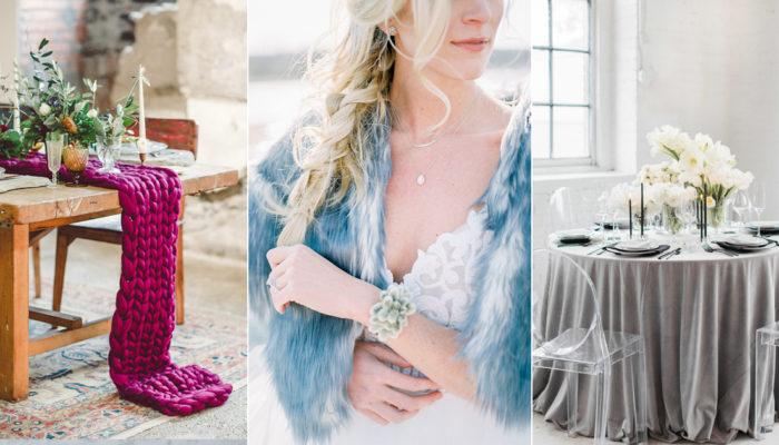 冬天的童話! 7個令人著迷的高貴冬季婚禮主題色彩!