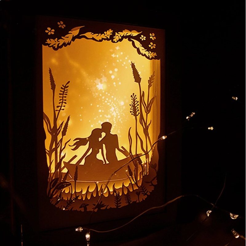 14-Paper sculpture night light