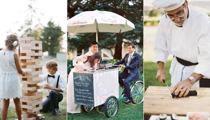 互動式婚禮潮流來襲! 35種促進互動的時尚婚禮自助站!