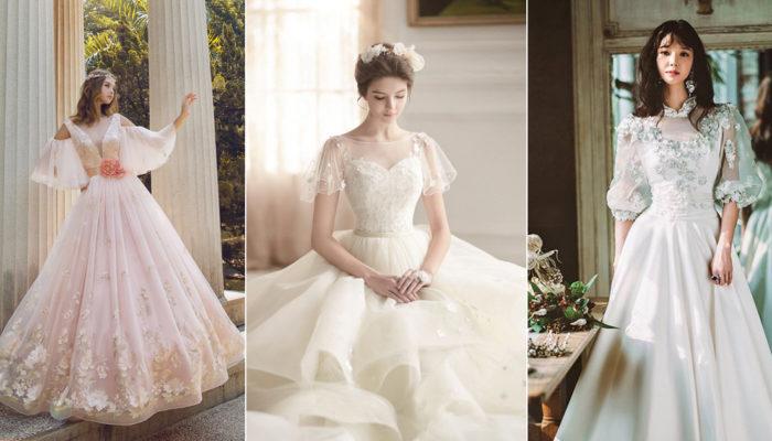 夢幻公主袖時尚升級! 18件浪漫復古泡泡袖婚紗!