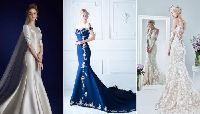 優雅與性感的結合! 18件時尚女王的合身婚紗!