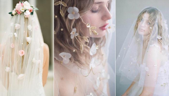 17款如藝術品般別緻的花卉頭紗,披戴屬於妳的祕密花園!