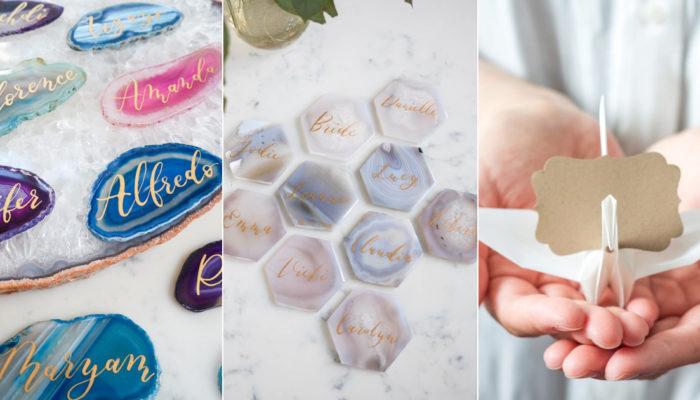 16 個令人驚豔的藝術立體座位卡,讓婚禮質感瞬間大加分!