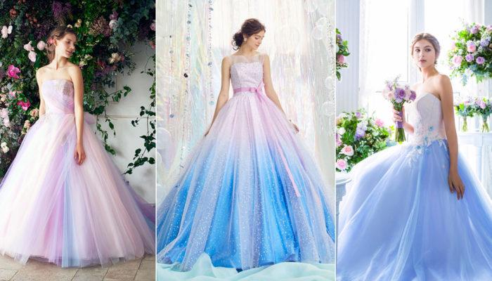 彩色婚紗再升級! 20件摩登混色系夢幻婚紗!