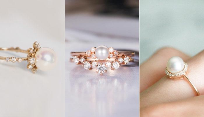 經典無瑕的不敗氣質! 28款純淨典雅珍珠戒指!