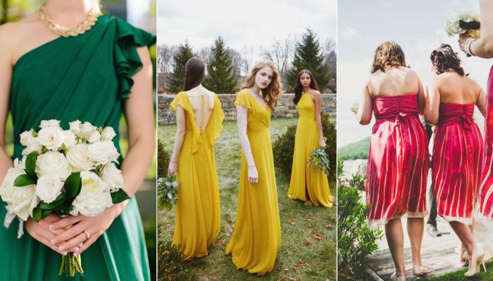 大膽玩色彩! 18種時髦耀眼的伴娘禮服色彩選擇!