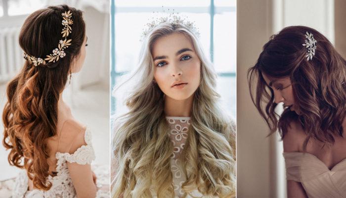 誰說新娘一定要盤髮? 30款能為飄逸長髮加分的專屬頭飾!