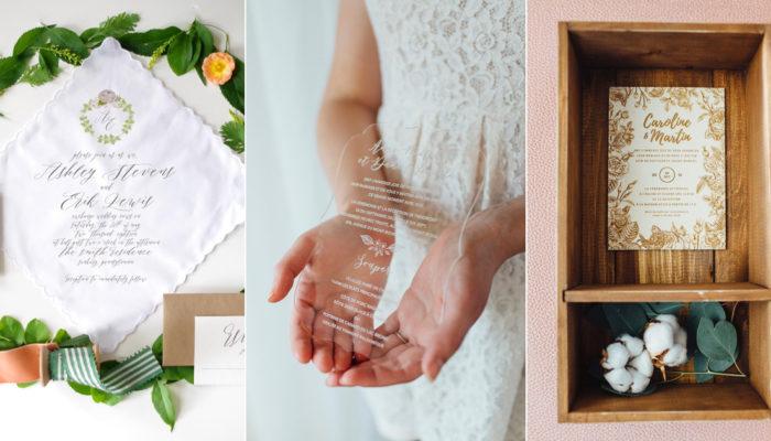 令人意想不到的創意喜帖! 13 款顛覆傳統的特殊材質婚卡!
