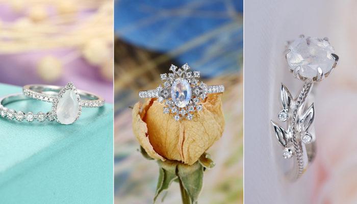 不一樣的夢幻婚戒! 天然月光石戒指擄獲少女心!