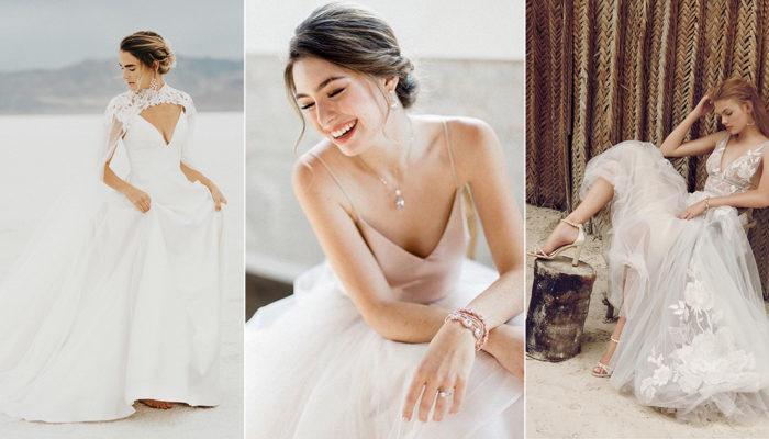 32件適合戶外婚禮和小型婚禮的時尚輕婚紗! 掌握輕便半正式婚紗潮流!