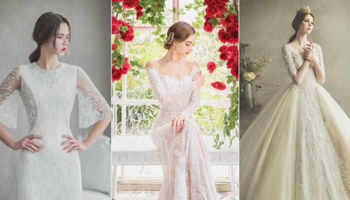 冬季新娘的美袖嫁衣! 34件女王風範經典別緻有袖婚紗!